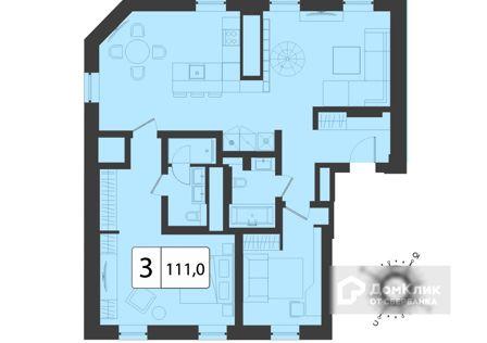 Продаётся 3-комнатная квартира, 208 м²