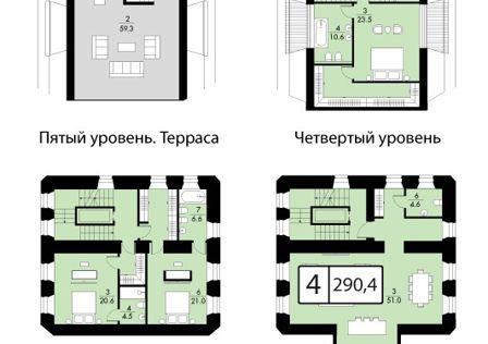 Продаётся 1-комнатная квартира, 260 м²